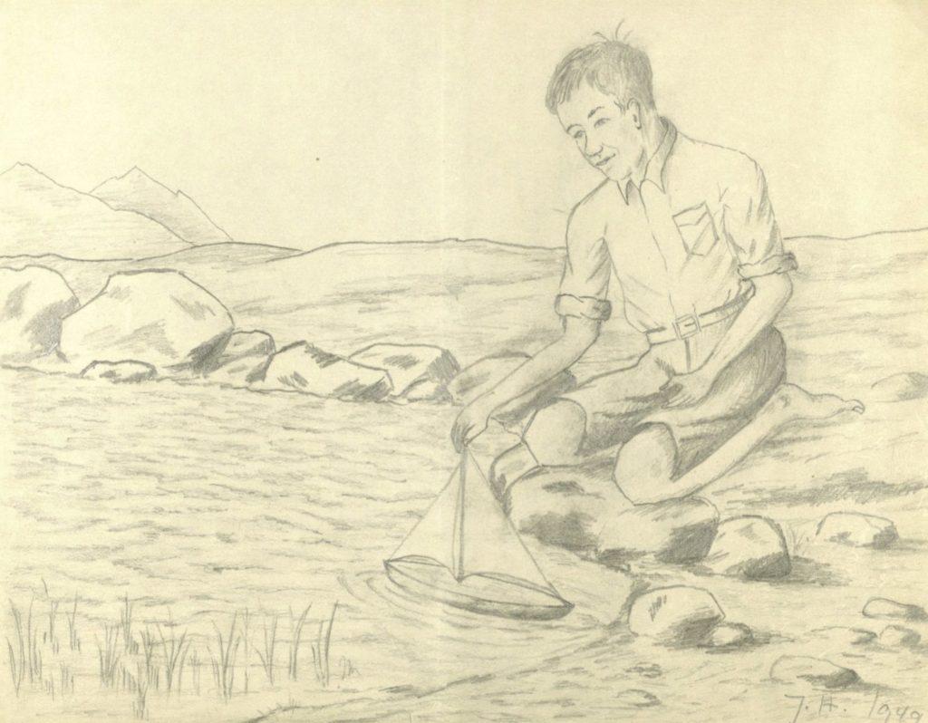 Tegning fra Tranøy kommune, uordnet materiale. Foto: Arkiv Troms