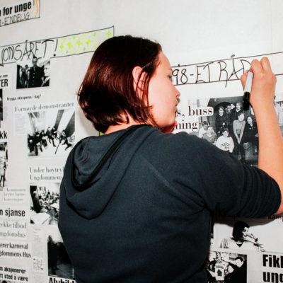 Dagen før åpninga av ungdomshuset Tvibit i Tromsø. Foto: Mari Hildung/Perspektivet museum