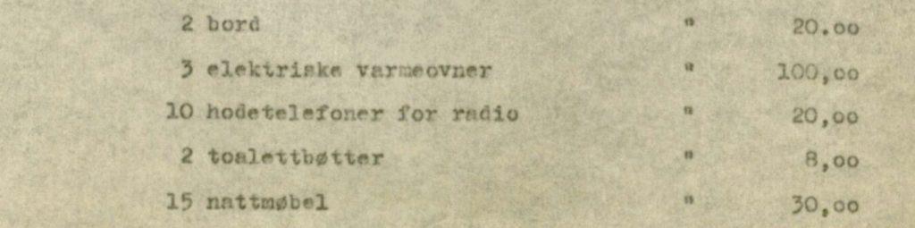 Tuberkulosehjemmet hadde hodetelefoner slik at pasientene kunne høre på radio. Salangen tuberkulosehjem, Salangen kommune Foto: Arkiv Troms