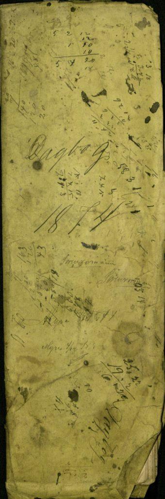 Kjøpmannens dagbok over handlende i 1874, Arkiv etter kjøpmann Kavlie, Ibestad kommune Foto: Arkiv Troms